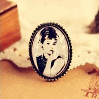 belle steel - Sweet And Elegant Stainless Steel Portrait Woman Belle Rings for women Adjustable Fashion Jewelry