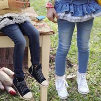 jeans pants - Girls Jeans feet Pants Girl s Pencil pants Children s Jeans colors styles flounced lace jeans dandys