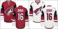Wholesale Max Domi Jersey Authentic Arizona Coyotes Jersey Domi Ice Hockey Jerseys Cheap Garnet White Stitched