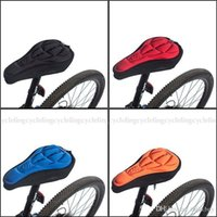 Wholesale RockBros D Silicone Lycra Nylon Gel Pad Bike Bicycle Cycling Cycle Seat Saddle Cover Soft Cushion Fits For Kinds Of Bikes