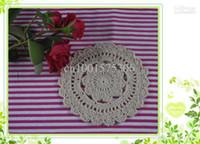 Wholesale cotton hand made Crochet Doily cup pad vase mat appliques x13CM a037