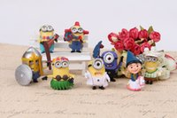 Wholesale Newest HOT Despicable Me toys doll minions Movies Mcdonald Character Action Figures children Gift SET DHL free