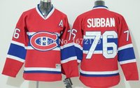 Wholesale CHEAP NHL MONTREAL CANADIENS YOUTH HOCKEY JERSEY P K SUBBANRED HOME PREMIER STITCHED KIDS ICE HOCKEY JERSEY