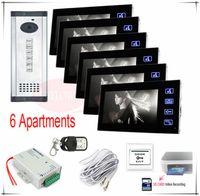 apartment door security - SD card Video recording Apartments video door phone intercom doorbell home security keys outdoor unit HD Camera monitors