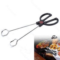 barbecue coal - POP Kitchen Restaurant Food Service Stainless Steel Tong Barbecue Clip Coal Clip
