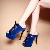 Wholesale Fashion Lady Sandal Shoes High Heel Slippers in Summer