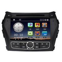 Wholesale 8 quot Car Radio Double Din Car DVD Player GPS Navigation in Dash Car PC Stereo Head Unit for Hyundai IX45 Santa FE Map Card
