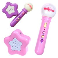 Wholesale New Arrival Girls boys Microphone Mic Karaoke Singing Kids Funny Gift Music Toy Free shippng