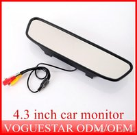 Wholesale HD quot Color TFT LCD Car Rearview Monitor inch screen DC V car Monitor for VCR ATP006
