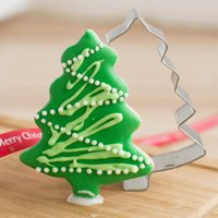 Wholesale Christmas Tree Jelly Mould - Wholesale-Aluminium Mold Christmas Tree Shaped Buscuit Tools Cookie Cake Mold Jelly Pastry Baking Mould Kitchen Tool Drop Shipping HG-1650