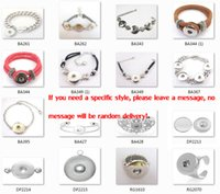 Wholesale 2014 New Mixed Toggle Clasp Bracelets Or Snap Bracelet Fit DIY Silver Tone Snap Press Buttons