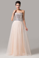 apricot balls - Best Selling Grace Karin Sparkly Apricot Strapless Sequins Shinning Tulle Long Bridesmaids Dress Ball Gown Evening Prom Party Dress CL6109