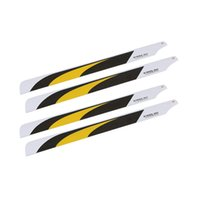 align helicopter parts - 2 Pairs Carbon Fiber mm Main Blades for Align Trex Electric RC Helicopter Parts