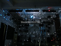 Wholesale Freeshipping W Cree LED Pin spot Light Mirror Disco Ball Light Mirror Reflection Glass Ball light Stage Ball
