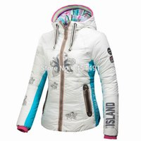 Wholesale 2015 TOP brand women s DOWN ski snowboard waterproof fabric jacket TOW sided wear ski jacket B1504 FREE GIFT for hat