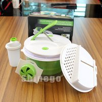 Wholesale 4 in Multi functional Salad Spinner Salad Spinnermandoline Vegetable Slicer Interchangeable Bladesb Kitchen Tool Gadgets Come with package