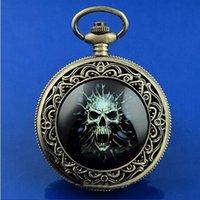 steampunk - Cool Nightvision mm Skull Pocket Watch atmos clock steampunk steampunk