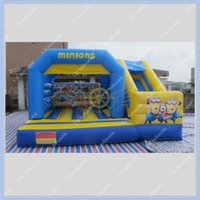 big inflatable slides - NEW DESIGN Minions Inflatable Castle with Slide for Kids Commercial Inflatable Jumping Castle Combo for Rental Business