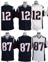 bowling games - 2015 Super Bowl XLIX Football Game Jerseys American Wears Clothing Discount Cheap Hot Sell Blue White Mixed Order