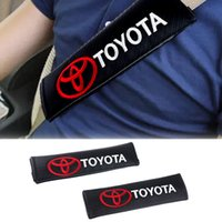 Wholesale 2pcs Toyota corolla avensis yaris rav4 hilux prius camry Car Safety Seat Belt Shoulder Pads Cover Cushion Harness Pad