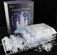 Wholesale Adult three dimensional D crystal jigsaw puzzle assembly plastic DIY children intelligence toy Castle light music