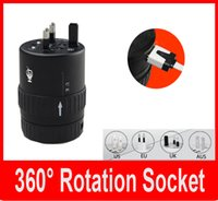 Wholesale Global Universal Adaptor Universal conversion socket USB adapter plug socket Multifunction adapter plug rotation soc for US UK EU UA CN