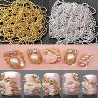bead tape - M Nail Art Tip Metal Glitter Striping Tape Ball Beads Chain Line Decorations D nail tools N6I