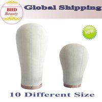 Wholesale 10 Size Cork Canvas Block Head Mannequin Manikin Head Wig Toupee Style Dry Dye