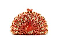 rhinestone purses - Trendy Peacock Pattern Rhinestone Clutch Bags Party Prom Purse Vintage Solid Bags Party Purse Designer Evening Bags B168