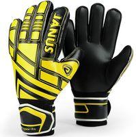 Soccer Finger Gloves Twill Good goalie gloves Yellow black latex England soccer ball goal keeper hand football game goalkeeper Best finger protection