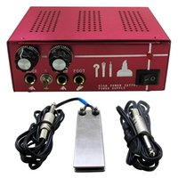 adjustable foot pedals - New Professional Double Adjustable Aluminum Tattoo Power Supply With Foot Pedal and Clip Cord for Dual Machine Guns P130