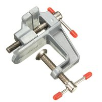 Wholesale Hot Sale mm Aluminum MiniAture Small Jewelers Hobby Clamp On Table Bench Vise Tool Vice order lt no track