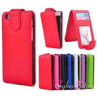 Wholesale For iphone Plus inch Vertical Leather Case Photoframe Photo Frame ID Credit Card Slot Flip Folio PU Cover For iphone6
