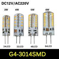 Wholesale SMD hrs LED Lamp DC V AC V G4 Socket LED Light Degree Beam Angle JY080009