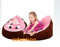 Wholesale coffee brown light pink MICRO SOFT SUEDE Baby infant Bean Bag Snuggle Bed Portable Seat NO Filling