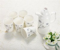 Wholesale ceramic pot add cups Ceramic European style jugs bottles suit High Quality