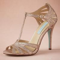 ballet wrap - Champagne Glittery Wedding Shoe Handmade Pumps T strap Leather Sole Comfortable Pumps Toe quot Leather Wrapped Heels Women Sandals Dance Shoes