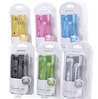 cute mp3 earphone - IN045 In ear mm earphone with MIC colors cute High elastic cable handsfree headphone with retail box for Iphone Samsung MP3 pc