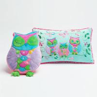 baby car seat cover set - 2pcs set Owl Cushion Cover Pillow Cushion Pillow Case Kids Cartoon Toy Embroidered Car Bed Seat Sofa Baby Play capa de almofada