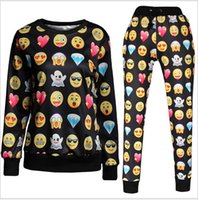 Men Pullover No Hot style in Europe and America Selling fashionable QQ expression emoji long-sleeved fleece 3 d printing