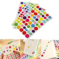 album photo pc - 6 Sheet Colorful Rainbow Sticker Diary Planner Journal Scrapbook Albums Photo DIY Decor Decal Stickers