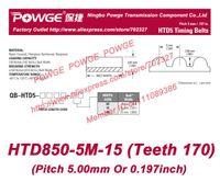 Wholesale 5pcs M Timing belt M teeth Rubber width mm length mm HTD850 M HTD5M Belt HTD850 M Freeshipping