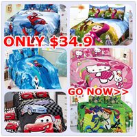 mickey mouse bedding - Hot Sale Single Bedding Sets for Kids Cartoon Bedding Hello Kitty Mickey Mouse Bedding for W39745