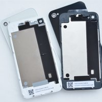 Wholesale 20PCS OEM Battery door cover for iphone s g back glass case housing rear cover black white