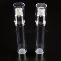 Wholesale 30ml airless kosmetik packaging ml empty plastic bottles with airless dispenser ml clear lotion bottles