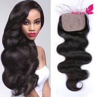 Cheap silk base closures Best 7a virgin hair body wave closure
