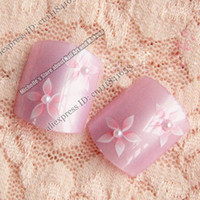 artificial toenails - Nail Art Lover Artificial False Lady s Pre Design Toenails Toes Flower in Summer Z529