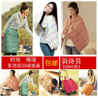 Wholesale x140cm Down Blanket Body cappa Down amp Feather Filler fashion multifunctional blanket hot sale
