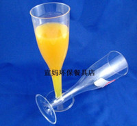 Wholesale ML disposable plastic champagne glass red wine cup transparent goblet order lt no track