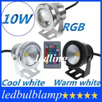 Wholesale DHL W V RGB Cool White Warm White LED Underwater Light Lamp IP68 Diving Flashlight For Swiming Pool Piscina Aquarium Fountain CE ROHS